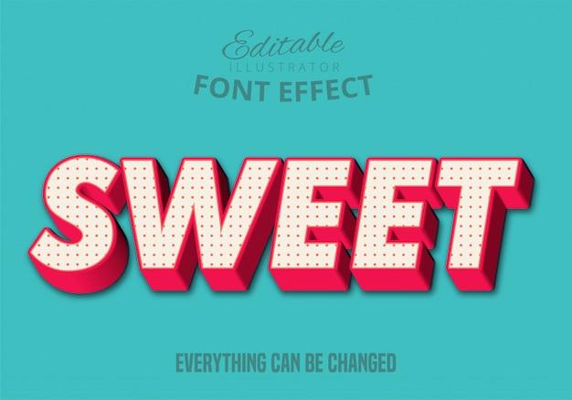 Sweet text, editable text style