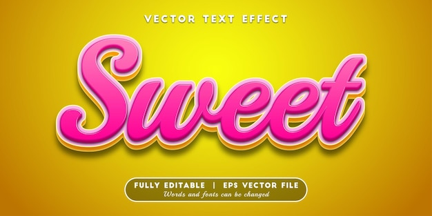Sweet text effect, 3d text style