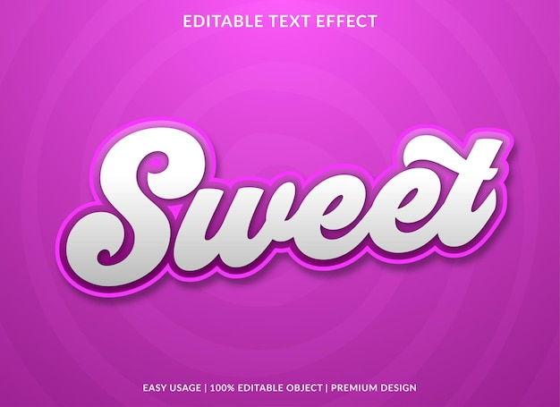 Sweet text effect with vintage style