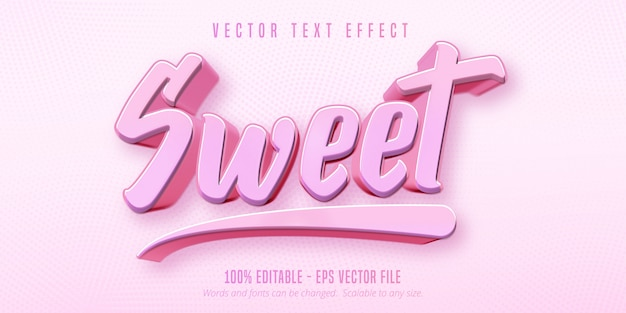 Сладкий текст, редактируемый текстовый эффект в игровом стиле