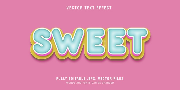 Sweet text style effect editable
