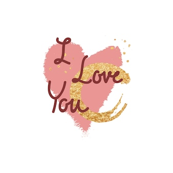 Sweet valentine message typography design