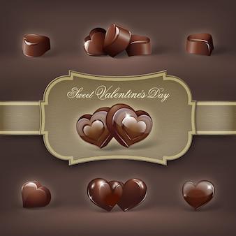 달콤한 발렌타인 데이 초콜릿 취급