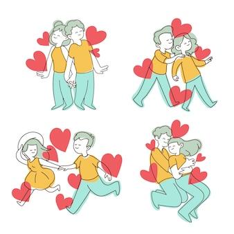 甘いバレンタインデーのカップルコレクション