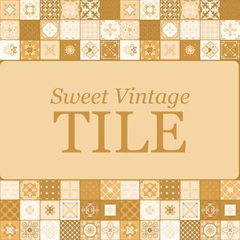 Sweet vintage ceramic brown tiles