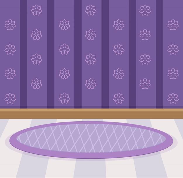 スウィートの壁紙と床のデザインカラーバイオレット。