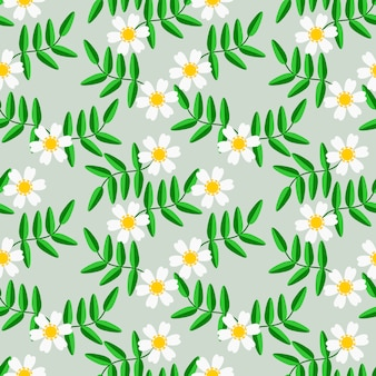 Sweet white flower seamless pattern vector