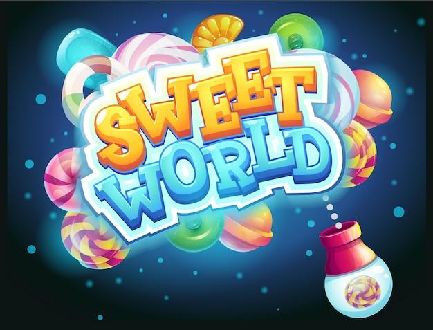 Сладкий мир gui game window candy shooter