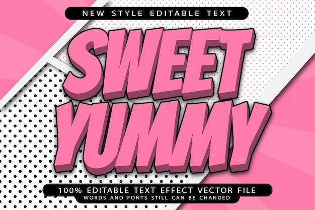 Sweet yummy editable text effect emboss modern style
