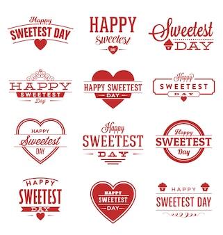 Sweetest collezione distintivi giorno