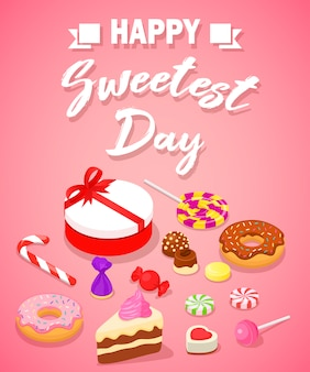 Sweetest day concept background