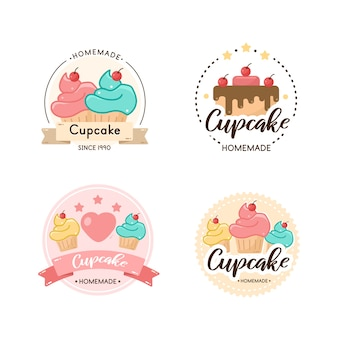 Sweets bakery logo badge template