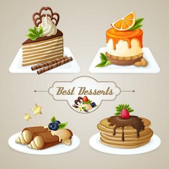 Sweets dessert set