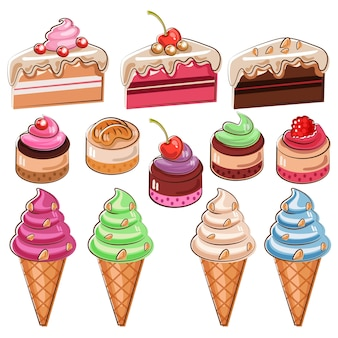 Sweets doodle collection