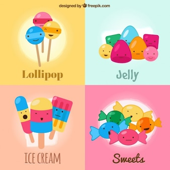 Sweets and ice cream pack