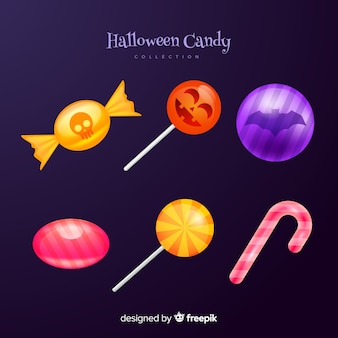 Sweets and lollipop cane halloween candies