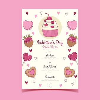 Sweets menu of valentine's day