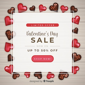 Sweets valentine's day sales background