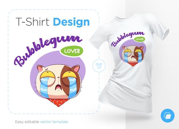 Sweettooth cat print on tshirts 스웨터 케이스 휴대폰 기념품