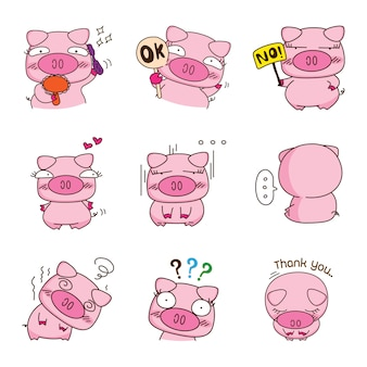 Sweety pig character design