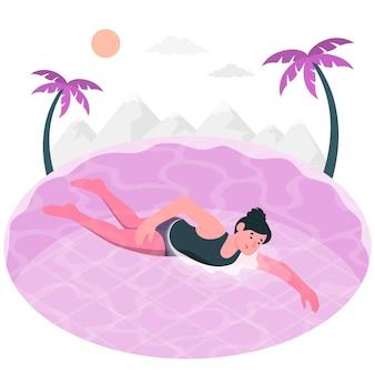 コンセプトイラストを泳ぐ