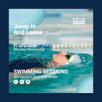 Swimming flyer square