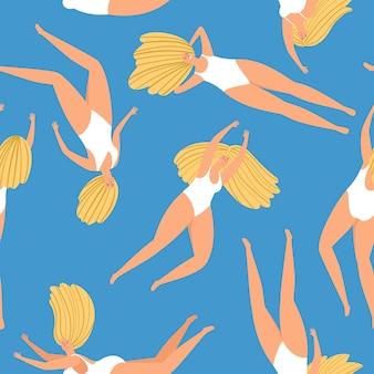Swimming girl pattern