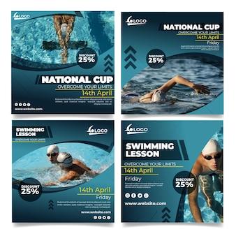 水泳のinstagramの投稿