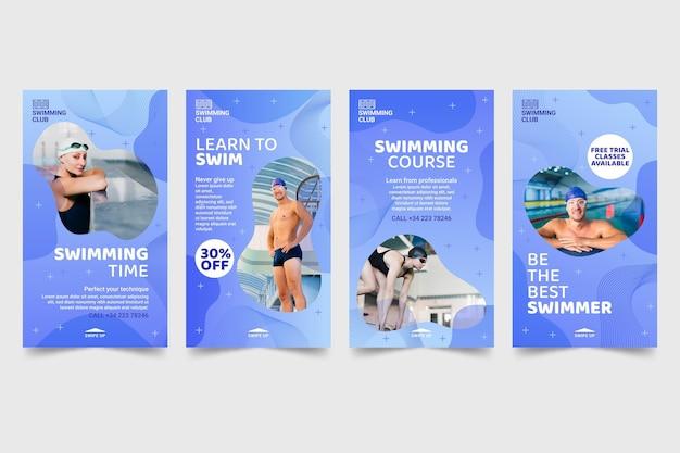Swimming instagram stories