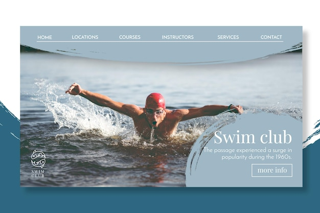 Swimming landing page concept