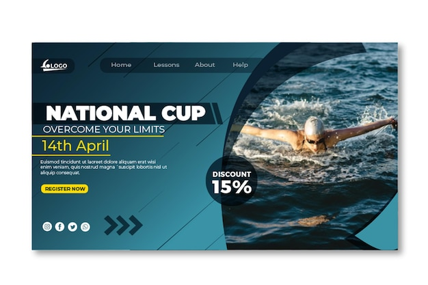 Swimming landing page template