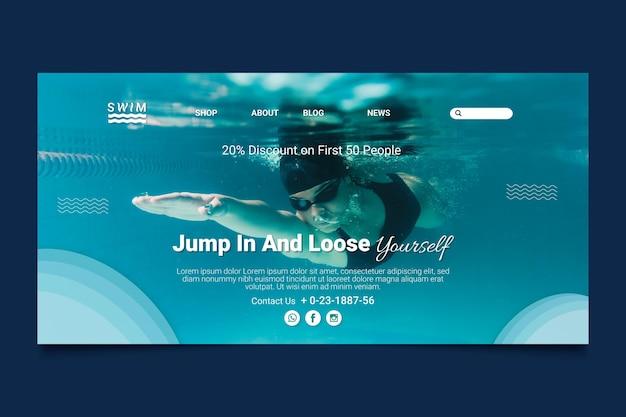 Swimming landing page