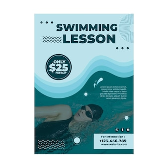 Swimming lesson flyer design