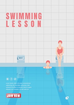 Swimming lesson poster