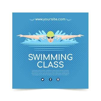 Swimming lessons print template