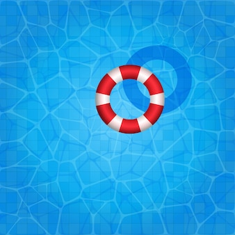 Swimming pool texture with rubber ring floating on it