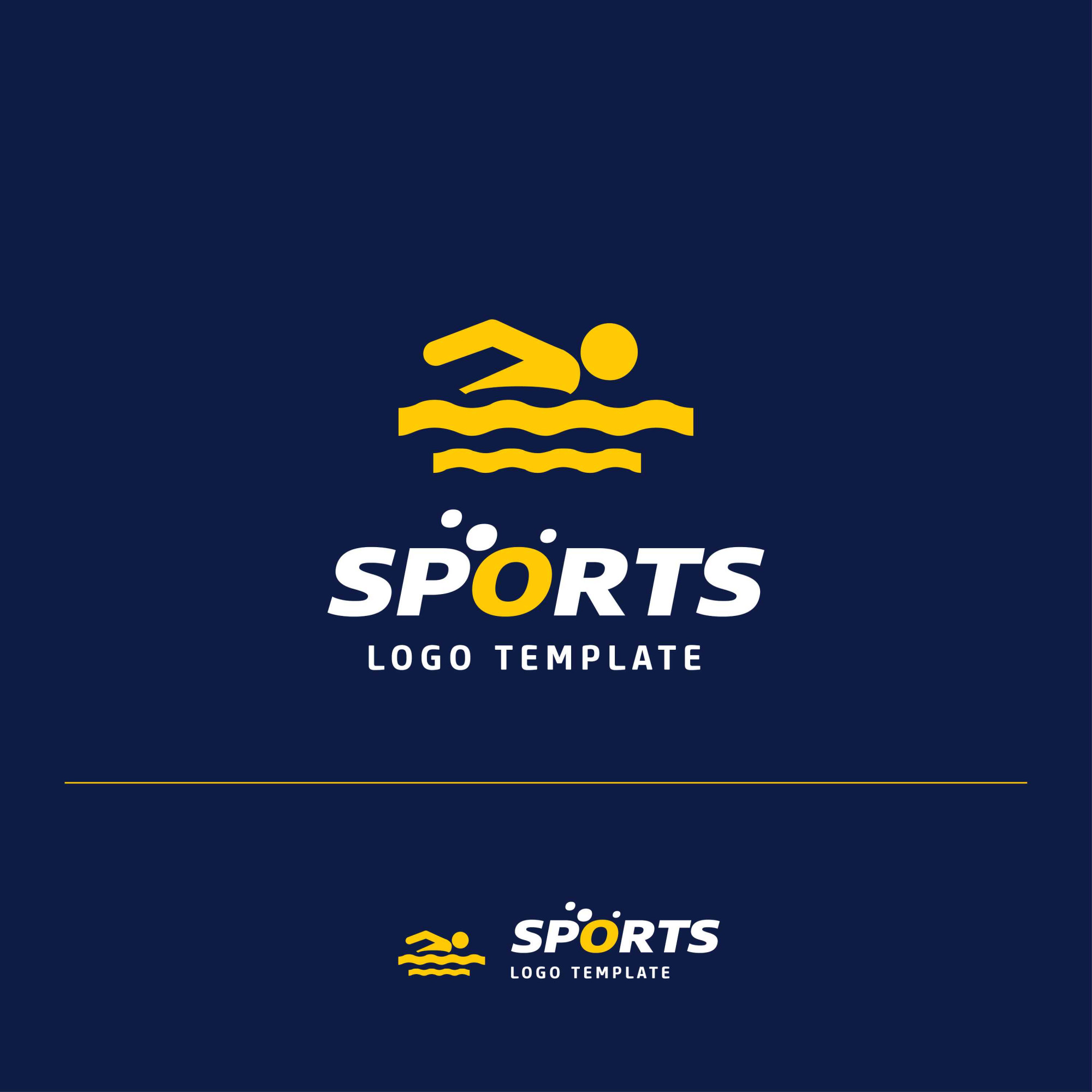 Swimming Sports Logo design