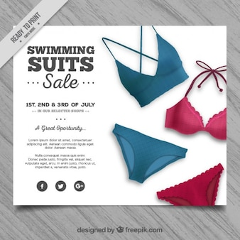 Swimming suits sale flyer
