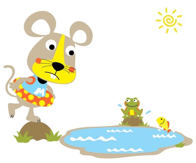 Swimming time cartoon vector