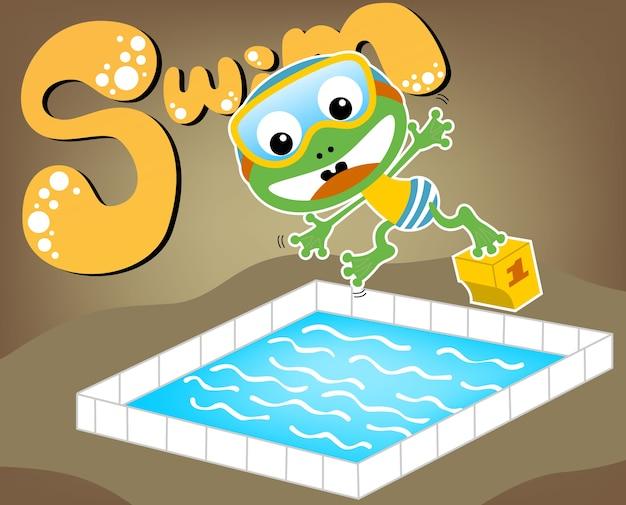 Swimming time cartoon
