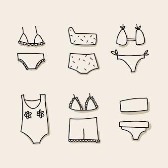 Swimwear, underwear icons