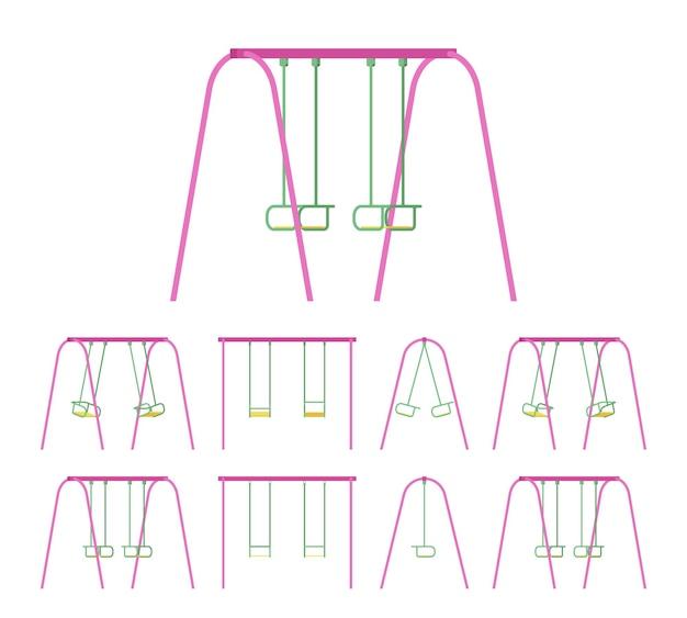 Swings set for park or garden use