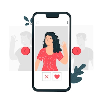 Swipe profiles concept illustration