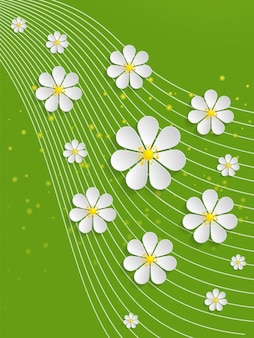 Swirl backdrop green background elegance