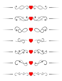 Swirl elements with hearts