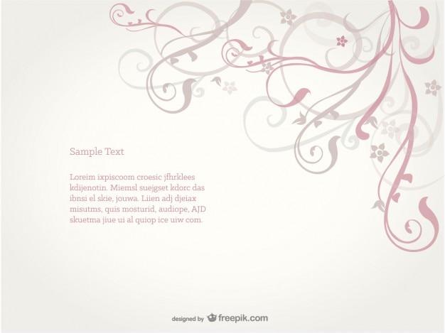 Swirl floral background