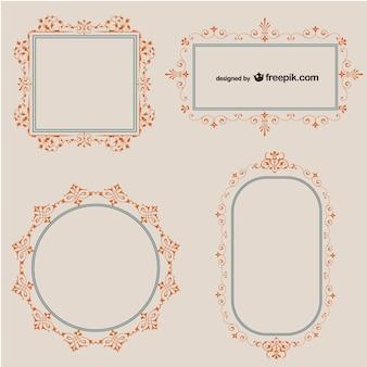 Swirl retro frames set