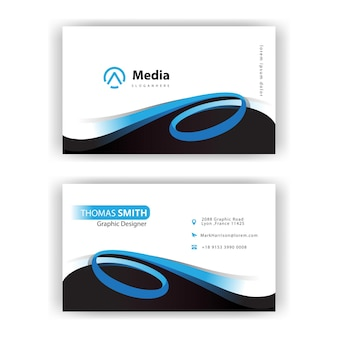 Swirl style design business card