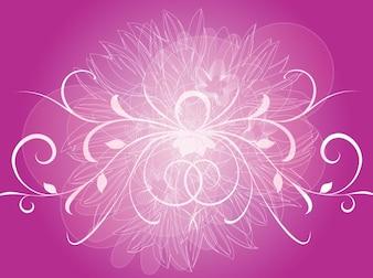 Swirled purple flowers background