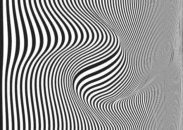 Swirled striped background